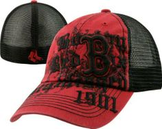 c726ad9245a00  47 Brand Boston Red Sox Red Closer Motto Mesh Back Flex Hat by  47