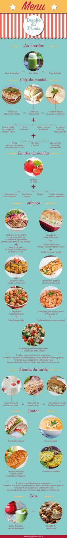 Dieta fácil: super cardápio para o dia a dia - Blog da Mimis -  Esse é o meu…