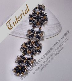 Beading Tutorial Super Duo Bead Pattern Midnight by LadyAbeada