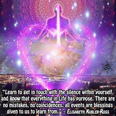 """""""Learn to get in touch with the silence within yourself, and know that everything in Life has purpose. There are no mistakes, no coincidences, all events are blessings given to us to learn from. Awakening Quotes, Spiritual Awakening, Stage Yoga, Zen Attitude, Yoga Lyon, Energie Positive, Spirit Quotes, Lessons Learned In Life, Pep Talks"""