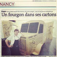 """""""Un fourgon dans ses cartons"""" aujourd'hui dans l'Est Républicain. #bmnancy #mediathequemanufacture #nancy #brunoheitz #retouraubercail #livresurlaplace"""
