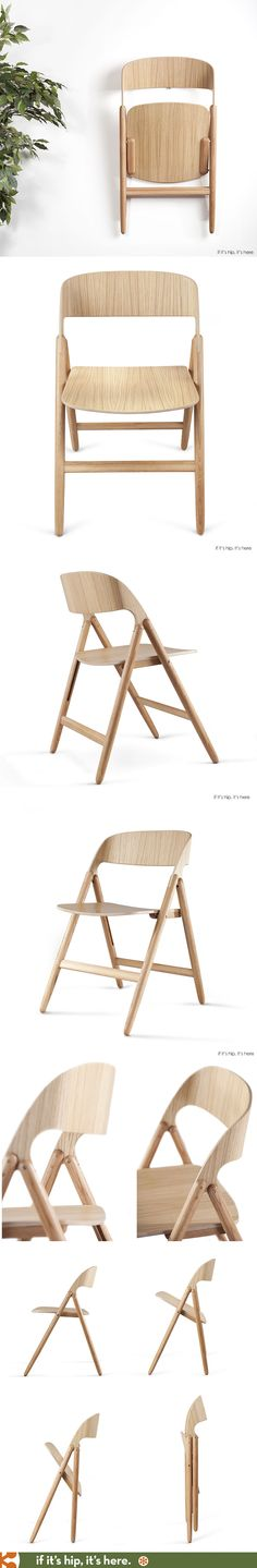Beautiful new wooden folding chair introduced at ICFF. Finally, a decent folding chair!