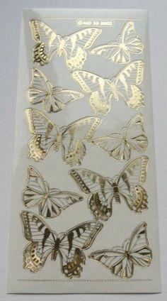 MIRROR PEEL OFF STICKERS ~ GOLD BUTTERFLIES | eBay