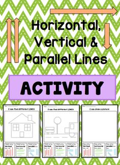 Horizontal, Vertical & Parallel Lines ACTIVITY --- This FREEBIE is useful when teaching horizontal, vertical and parallel Lines. Students will be able to design their own picture uses these lines or look at a picture and find these lines  Enjoy! Coconut Ideas! #reachingteachers #missed