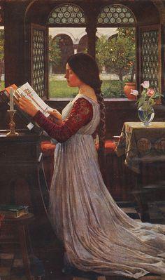 The Missal, 1902 ~ John William Waterhouse 1849-1917