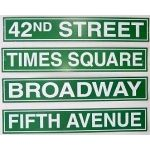 Skyline, centrepieces, signs, etc.  Awesome Events Site DIY  NYC / Broadway Room Decor