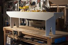Build a Simple Farmhouse Bench >> http://blog.diynetwork.com/maderemade/how-to/how-to-build-a-simple-farmhouse-bench?soc=pinterest