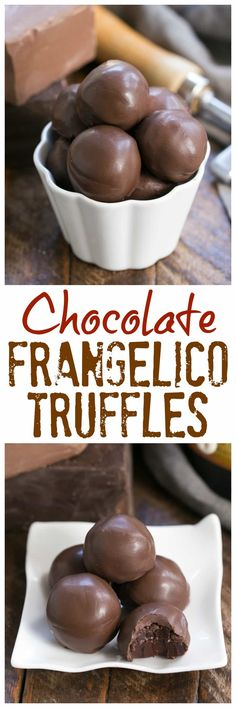 Chocolate Frangelico Truffles | Exquisite truffles flavored with hazelnut liqueur plus a guide for tempering chocolate #chocolate #truffles