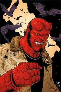Hellboy by Dave Stevens. This might be my favorite Hellboy piece.
