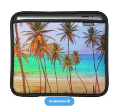 Tropical iPad Sleeve http://www.zazzle.com/beachhutsands?pg=2