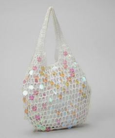 Another great find on #zulily! White Paillette Hobo #zulilyfinds