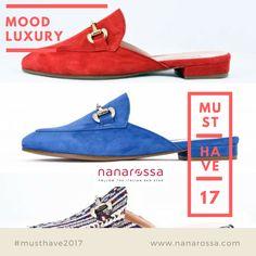 Mocassino colorato e con tallone scoperto. Must Have Primavera Estate 2017 https://www.nanarossa.com/it/301_mood-luxury-shoes