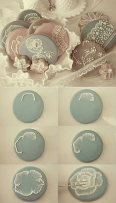 Beautiful cookies. I need to practice this lace effect for cakes, cookies are a great way to practice.