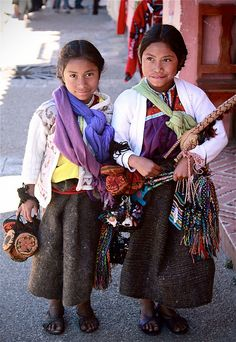 Mexican girls from Chiapas, Mexico