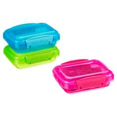 The Container Store > oz. Colorful Klip-It® Snack Pack Boxes Sistema Containers, Snack Containers, Storage Containers, Toddler Bag, Toddler Meals, Snack Box, Snack Pack, Christmas Shoebox, Baby Food Storage