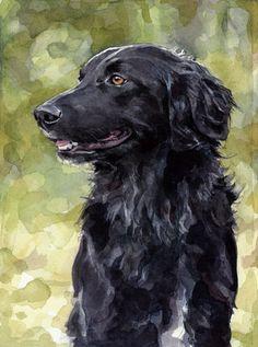 Chien personnalisé aquarelle réaliste animal Portrait 5 x 7