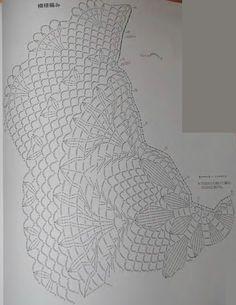 Crochet woman's shawl pattern diagram