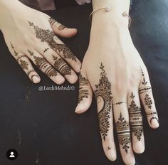 Henna by leedsmehndi Finger Henna Designs, Henna Art Designs, Mehndi Designs For Fingers, Beautiful Henna Designs, Bridal Mehndi Designs, Bridal Henna, Beautiful Mehndi, Indian Bridal, Wedding Designs