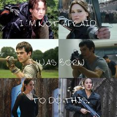 The Maze Runner, Hunger Games, Divergent
