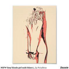 NSFW Sexy blonde girl nude bdsm erotic art nude Photograph