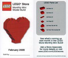 LEGO heart instructions