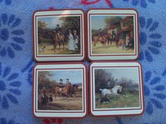 Equine Art Coasters Old World Depiction by AntiquesandVaria, $15.20