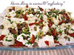 Insalata di Merluzzo al vapore, ricetta light, da servire come antipasto o secondo a pranzo o a cena, adatta sia per la cucina estiva sia per quella invernale.