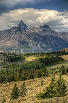"Absaroka Range, Wyoming - ""Beartooth Pass""  - This is my most favorite view on the Beartooth Highway, Pilot & Index Peaks!"