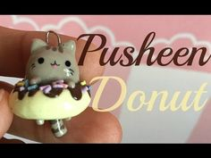 Pusheen in a Donut polymer clay charm tutorial