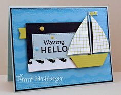 My Favorite Things MFT Die-namics - sailboat - waves - nautical card - nautisk maritim Kort - Karte