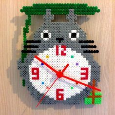 Totoro clock hama perler beads by pitichampi on deviantART