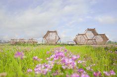 bamboo landmark architecture