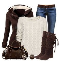 super cute brown coat and belt