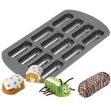 Wilton 12-Cavity Delectovals Mini Cake Pan