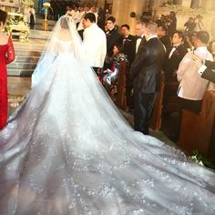 Michael Cinco The cathedral train... #Modest doesn't mean frumpy. #DressingWithDignity www.ColleenHammond.com www.TotalimageInstitute.com