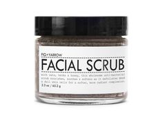Fig & Yarrow Facial Scrub + Exfoliate With Oats, Herbs, Minerals, Honey & Floral Essences