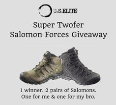 I want to #win #SalomonForces for me & a pair for my bro @USElite #USElite #tacticool