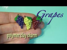 Wine Grapes Polymer Clay Charm - YouTube