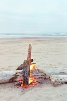 Bonfire on the beach ...you may need a permit :)