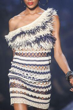 Vestido de Jean Paul Gaultier en punto de aguja  -  Jean Paul Gaultier knit dress