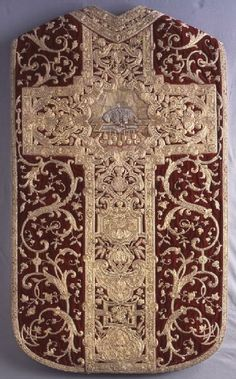 Chasuble, ca. 1700–1710 France, probably Paris   Silk, metallic threads; cut velvet, embroidery (laid work, couching, padded couching) Museum purchase, Dorothy Spreckels Munn Bequest Fund  2004.9.1.1