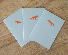 Foxy notebooks.