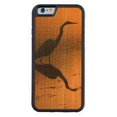 Sunset Egret Wood iPhone 6 Case