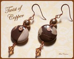 amazing handmade copper jewelry / Twist of Copper Earrings