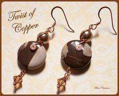 amazing handmade copper jewelry / Twist of Copper Earrings