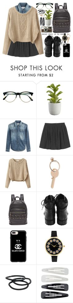 """""""And then we were one."""" by alexandra-provenzano ❤ liked on Polyvore featuring Retrò, Crate and Barrel, Maison Margiela, Monki, Marc Jacobs, Chanel, Casetify, ASOS, Goody and Forever 21"""