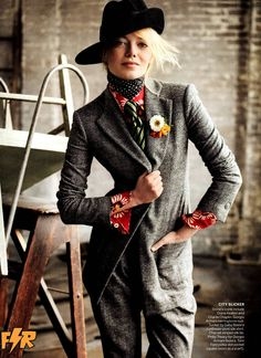 Sherlock Holmes reincarnated as a modern fashion detective. Inspiration for A Crime of Fashion. #ModelUnderCover #CrimeofFashion Emma-Stone-by-Mario-Testino-for-Vogue-US-July-2012