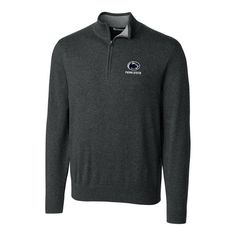 Penn State Nittany Lions Cutter & Buck Big & Tall Lakemont Half-Zip Jacket - Heather Charcoal - $104.99