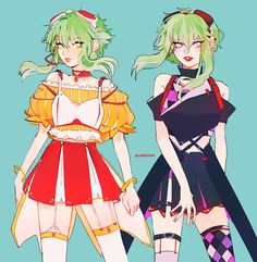 Vocaloid Gumi Outfits by Vacuum Chan!