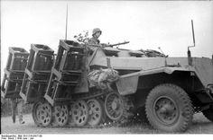 Sd.Kfz. 251/1 II Wurfrahmen 40 mobile multiple rocket launcher.